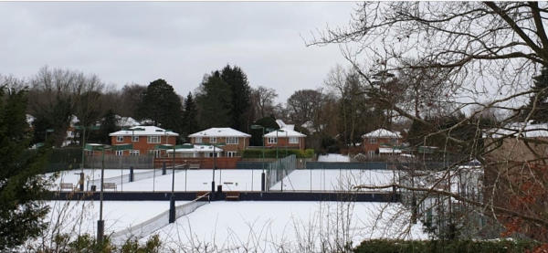 Snow on courts