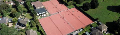 Dorking Tennis & Squash Club Aerial View